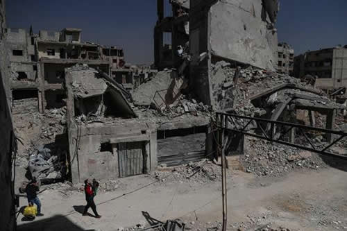 Ejército sirio avanza por Guta, en vísperas de séptimo aniversario de guerra