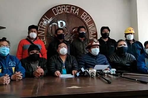 COB declara cuarto intermedio en conflicto hasta el 18 de octubre