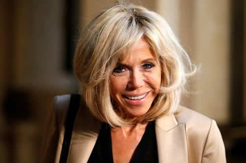 La primera dama Brigitte Macron, actriz por un día en una serie francesa