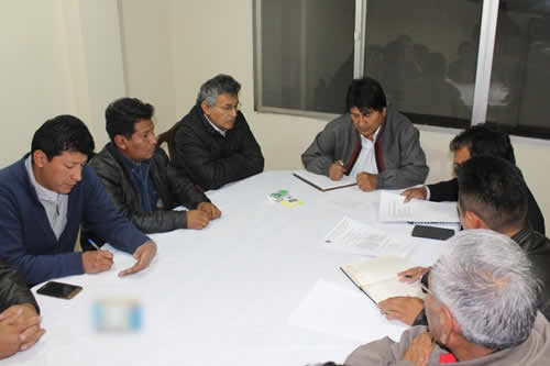 Presidente y COD de Cochabamba definen trabajo técnico para mejorar pensiones de jubilados