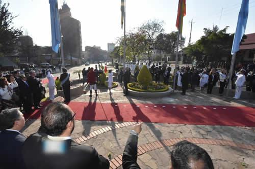 García Linera participa de actos protocolares por los 208 años de la gesta libertaria de Cochabamba