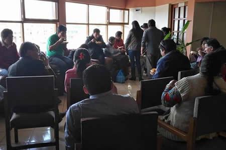 Hacen vigilia en TED Potosí para pedir campaña por el nulo