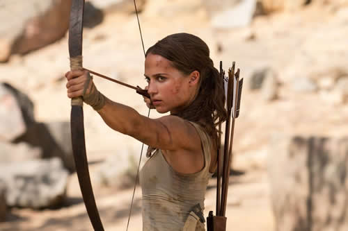 """Tomb Raider"" aterriza en EE.UU. para intentar destronar a ""Black Panther"""