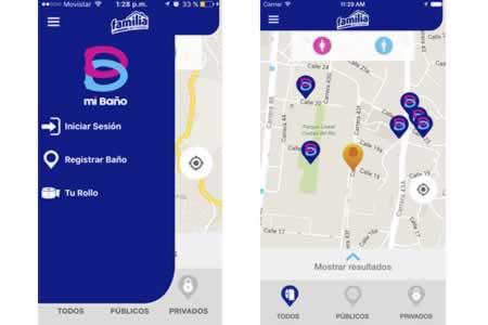 Lanzan aplicación para hallar baños a pocos metros de distancia en Colombia