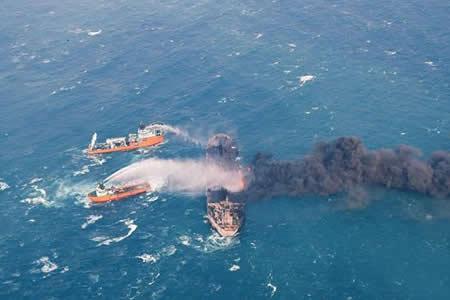 La contaminación del petrolero Sanchi se expande por el Mar de China