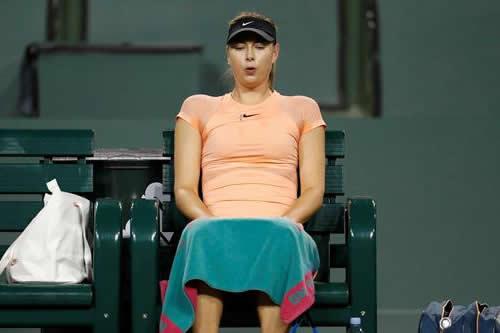 Sharapova no jugará el Abierto de Miami por lesión