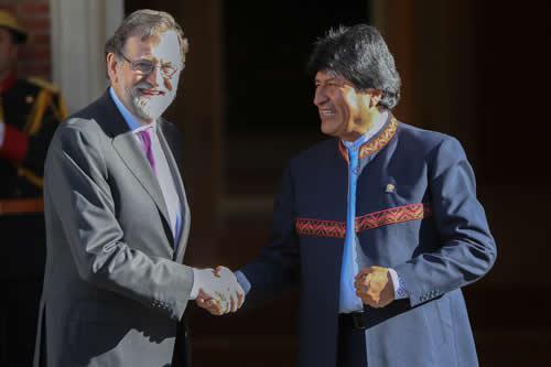 """Morales saluda la cooperación """"incondicional"""" de España para el desarrollo soberano de Bolivia"""