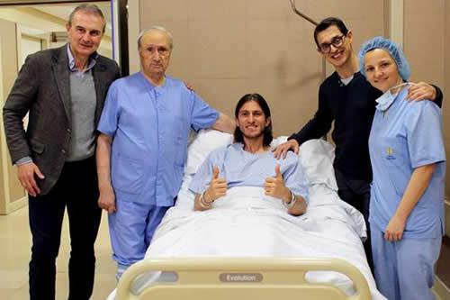 Filipe Luis, operado de su fractura de peroné, estará de baja ocho semanas