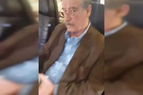 Vicente Fox fue increpado en un avión por su pensión de expresidente mexicano