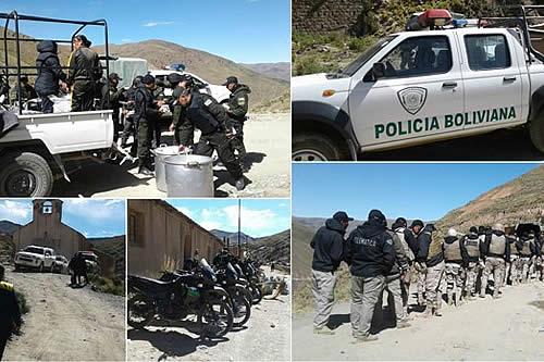 """Megaoperativo con más de mil policías golpea al """"juqueo"""" en la mina Huanuni"""