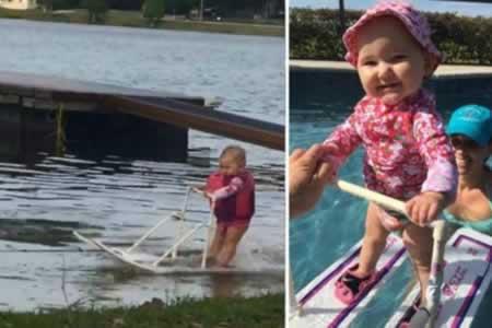 Bebé de 6 meses bate en EEUU récord de esquí acuático al recorrer 210 metros