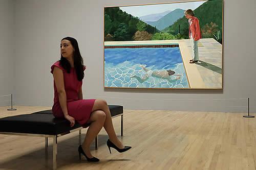 Un cuadro de David Hockney, el más caro vendido en subasta de un artista vivo: 90 millones dólares