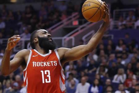 Harden se exhibe con 48 puntos y Rockets arrollan a Suns