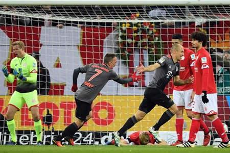 El Bayern recupera el liderato tras imponerse por 1-3 al Maguncia