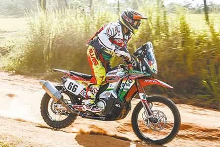 Wálter Nosiglia junior arremete en la séptima etapa del Dakar: llega décimo