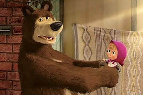 La serie animada rusa 'Masha y el Oso' entra en el Libro Guinness como el video más visto de YouTube