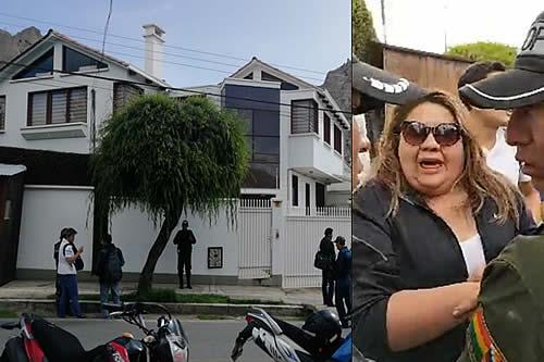 Policía arresta a tres personas por estar en la casa de Carlos Romero en La Paz