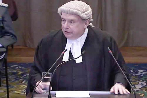 Lowe: Derecho internacional obliga a Chile a negociar
