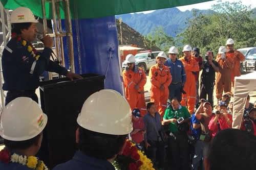 Morales pide perfilar exportación de gas a otros continentes