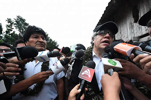 Morales aclara que Almagro no trajo respaldo solo dijo la verdad y revela actitud violenta de los opositores