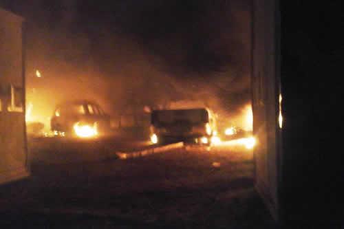 Desconocen paradero de policías tras quema total de Umopar en San Matías