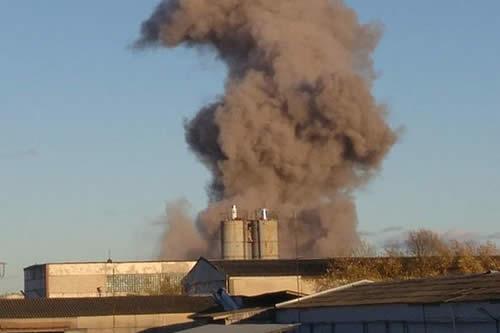 Explosión de pirotecnia en una fábrica próxima a San Petersburgo