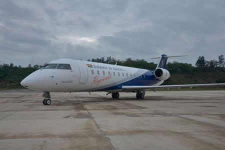 Inauguran vuelos comerciales de BoA en Monteagudo