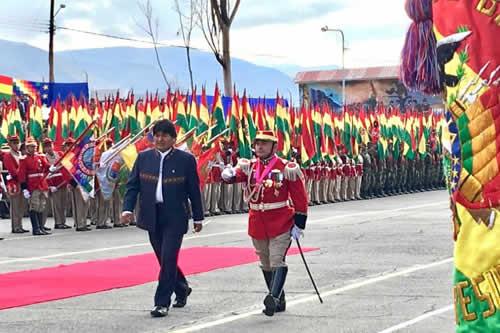 Morales observa a las FFAA por no hacer caminar a los soldados