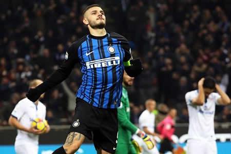 """Icardi marca un doblete al Atalanta y """"su"""" Inter alcanza la segunda plaza"""