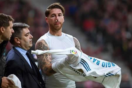 Ramos sufre fractura del tabique nasal