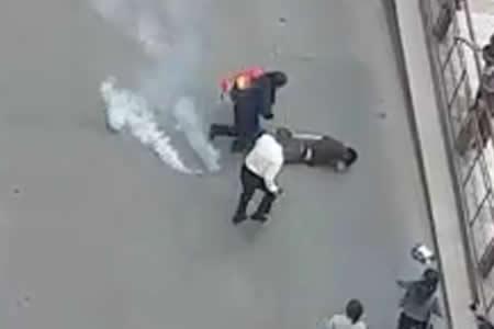 Disparan proyectil de gas contra el hijo de Albarracín y éste culpa a Romero
