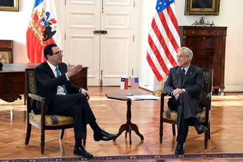 EEUU y Chile aúnan posturas sobre aplicación de nuevas sanciones a Venezuela