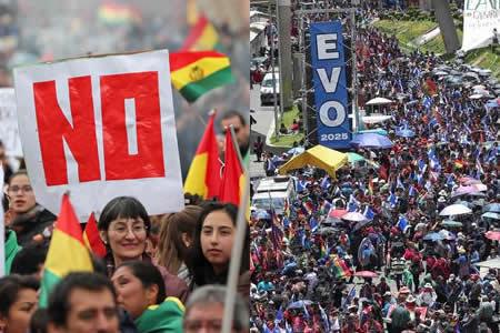 Bolivia se polariza entre el sí y el no a Evo Morales