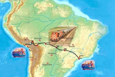 Empresas de España muestran interés en participar en el proyecto del tren bioceánico
