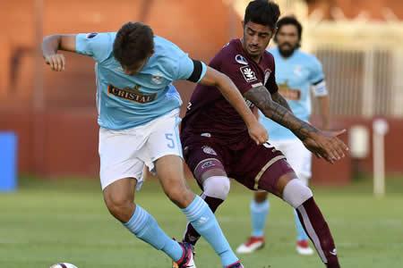 Lanús saca ventaja ante Sporting Cristal en un encuentro alocado