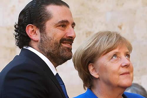 Merkel elogia compromiso de Líbano con los refugiados