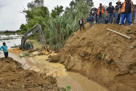 Zavaleta: Lluvias afectan a 17.000 familias, Zongo y Guanay las zonas más complicadas