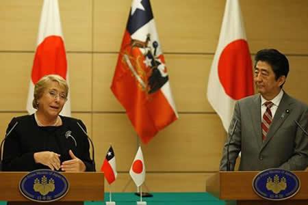 Bachelet destaca en Japón el valor del TPP en su último viaje como presidenta