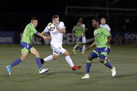 Santa Tecla de El Salvador derrota al Seattle Sounders y toma ventaja