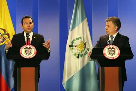 Colombia y Guatemala se aproximan con TLC en ciernes y cooperación en defensa