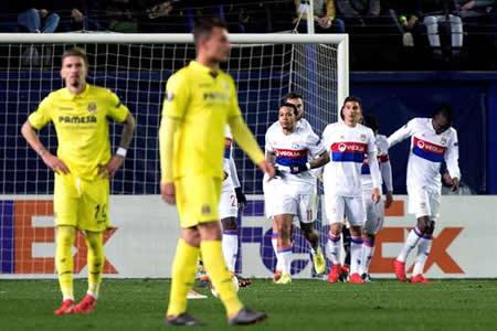 El Villarreal cae otra vez ante el Olympique, que fue mejor