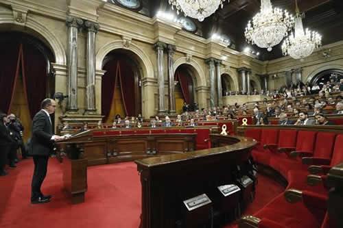 Parlamento catalán rechaza a candidato nacionalista antes de acudir ante juez