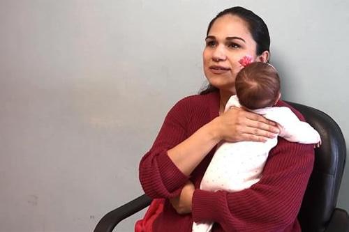 Amanda,recién nacida que sobrevivió ante todo pronóstico a tumor de 2,5 kilos