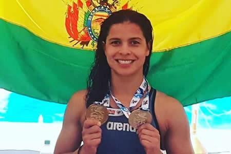 Karen Torrez le da a Bolivia su primer oro al ganar los 50 metros libres