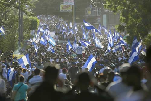 Manifestación histórica pide salida de Ortega del Gobierno en Nicaragua