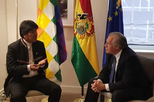 Morales y Almagro (OEA) hablan en Nueva York
