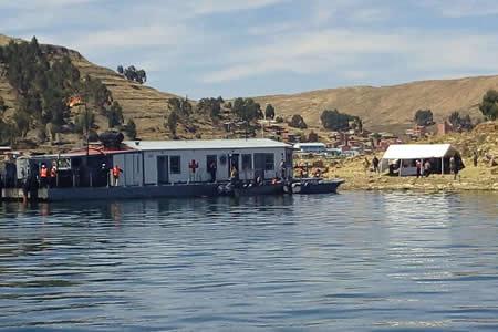 Armada Boliviana y la Marina de Guerra de Perú realizan operaciones en el lago Titicaca