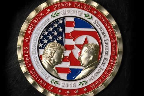 Monedas del encuentro suspendido Trump-Kim causan furor entre coleccionistas