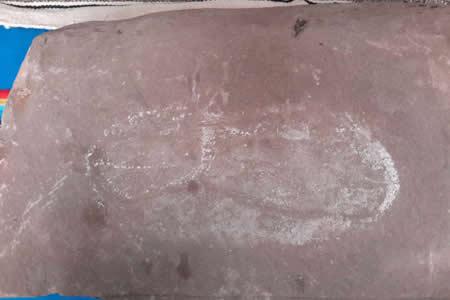 Cancillería devuelve huella humana pétrea a comunidad Sullkatiti - Jesús de Machaca de La Paz