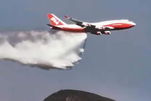 Supertanker trabaja en Tarija para mitigar el incendio